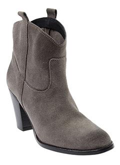 meline boots femme de couleur gris