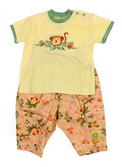 baby et jac t et shirt et pantalon enfant de couleur jaune