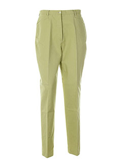 nolwenn pantalons femme de couleur vert