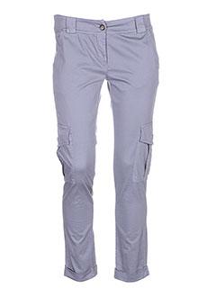 angela davis pantalons femme de couleur gris