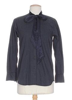 shine chemises femme de couleur bleu