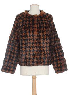essentiels manteaux femme de couleur marron