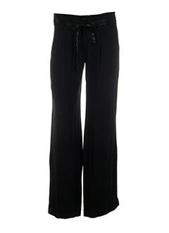 tricot chic pantalons femme de couleur noir