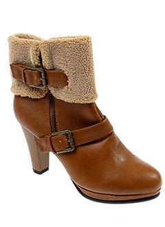 ideal et shoes bottines femme de couleur marron