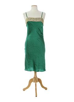 Robe mi-longue vert MINE DE RIEN pour femme