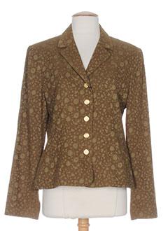 francois favel vestes femme de couleur marron