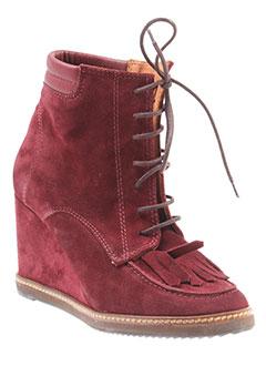 emma et go boots femme de couleur rouge