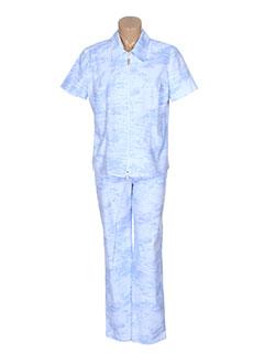 eugen et klein pantalon et veste femme de couleur bleu