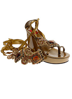 bijou de pied chaussures femme de couleur marron