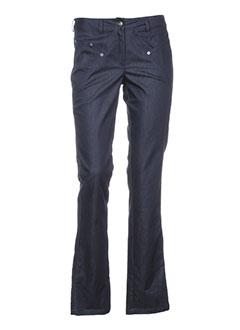 nathalie chaize pantalons femme de couleur bleu
