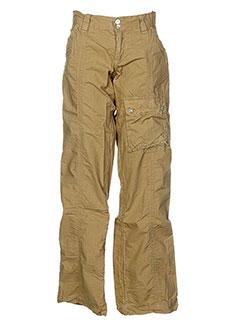 teddy smith pantalons fille de couleur marron