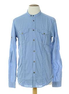 messagerie chemises homme de couleur bleu
