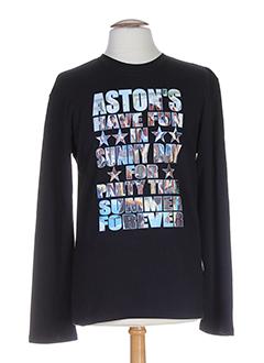 aston's t-shirts homme de couleur noir