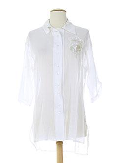 cappopera couture tuniques femme de couleur blanc