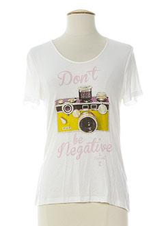 tricot chic t-shirts femme de couleur blanc