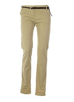 teddy smith pantalons fille de couleur beige