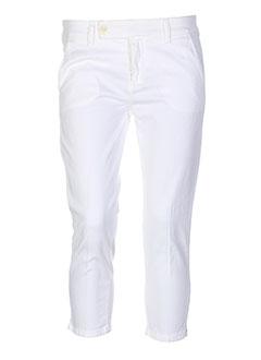 true nyc pantacourts femme de couleur blanc