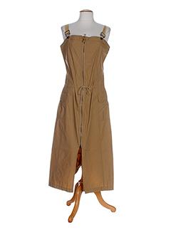 de la vega robes femme de couleur marron