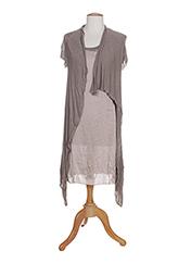 Robe mi-longue marron POUSSIERE D'ETOLE pour femme seconde vue