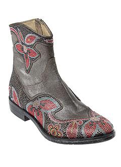 now boots femme de couleur gris