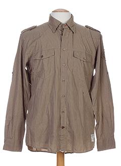 camel active chemises homme de couleur marron