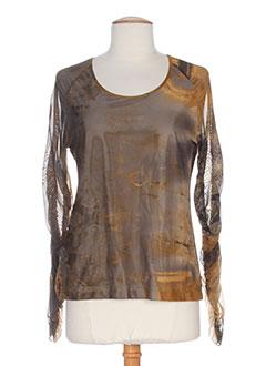 gina b heidemann t-shirts femme de couleur marron