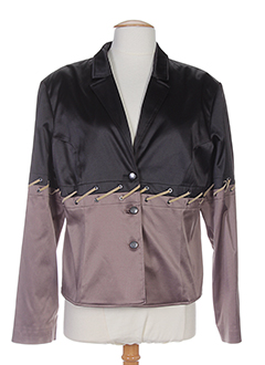 nathalie chaize vestes femme de couleur noir