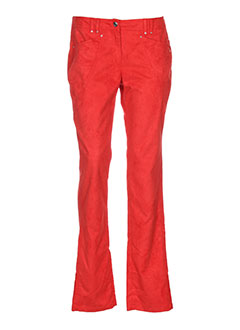 nathalie chaize pantalons femme de couleur rouge
