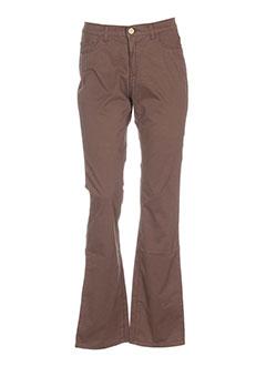 Pantalon casual marron TRUSSARDI JEANS pour femme