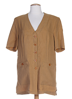 fedora vestes femme de couleur marron