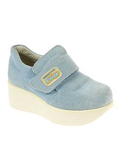 exclamative chaussures fille de couleur bleu