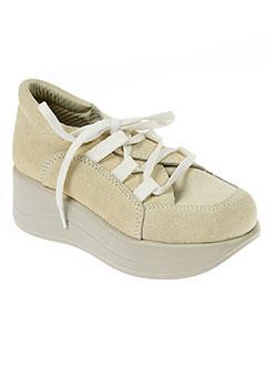 exclamative chaussures fille de couleur beige