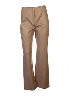 manoukian pantalons femme de couleur marron