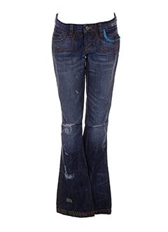 antik denim jeans femme de couleur bleu
