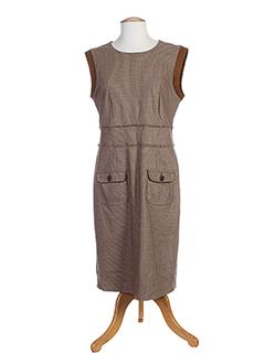 Robe mi-longue marron HAUBER pour femme