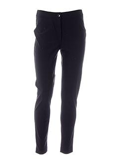 blanc nature pantalons femme de couleur noir