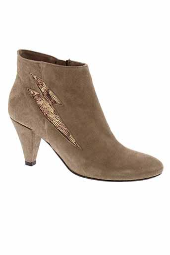blu et velvet boots femme de couleur marron