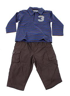 3 et pommes t et shirt et pantalon garcon de couleur marron (photo)