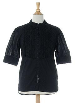 levis chemises fille de couleur noir