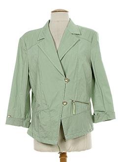 bleu de sym vestes femme de couleur vert