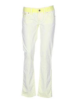 freesoul pantalons et decontractes femme de couleur jaune