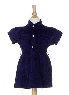 bakker robes et mi et longues fille de couleur bleu