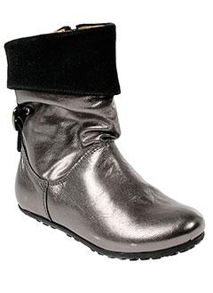 ninette et en et fleur boots fille de couleur gris