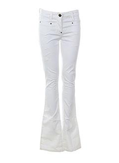 bray pantalons femme de couleur blanc