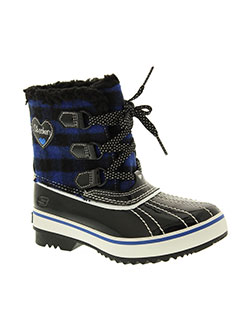skechers boots femme de couleur noir
