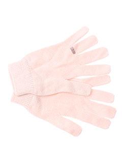 lili et gaufrette echarpes et gants fille de couleur rose