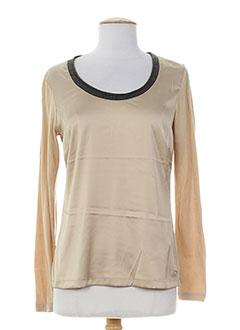 river woods chemises femme de couleur beige