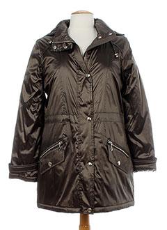 c.missaro manteaux femme de couleur marron