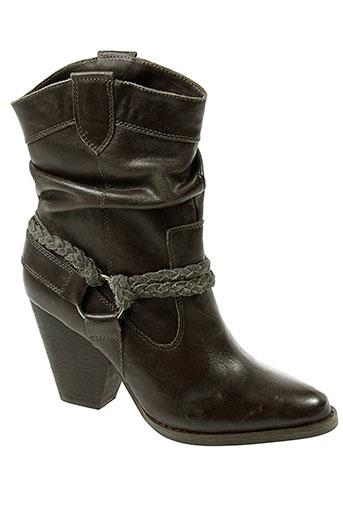 one et step boots femme de couleur gris