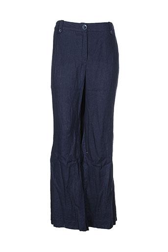 initiative pantalons et decontractes femme de couleur bleu